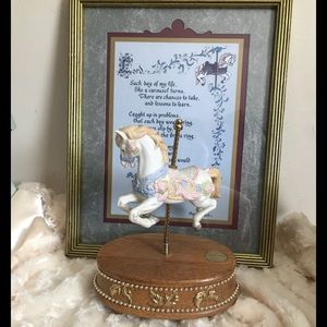Other - RareVintage Musical Spinning Carousel Horse Bundle